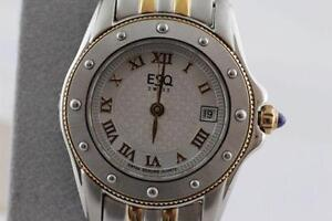 BRAND NEW IN BOX MOVADO- ESQ LADIES ELEGANT TWO TONE WATCH