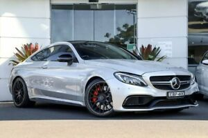 2016 Mercedes-Benz C63 C205 AMG SPEEDSHIFT MCT S Silver, Chrome 7 Speed Sports Automatic Coupe Kirrawee Sutherland Area Preview