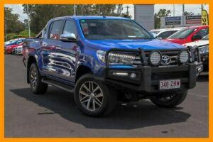 2017 Toyota Hilux GUN126R SR5 Double Cab Blue 6 Speed Sports Automatic Utility Aspley Brisbane North East Preview