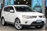 2009 Mitsubishi Outlander ZG MY09 LS White Solid 6 Speed Constant Variable Wagon Myaree Melville Area Preview