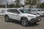 2014 Jeep Cherokee KL Trailhawk White 9 Speed Sports Automatic Wagon Aspley Brisbane North East Preview