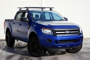 2014 Ford Ranger PX XL Double Cab Blue 6 Speed Sports Automatic Utility Seaford Frankston Area Preview