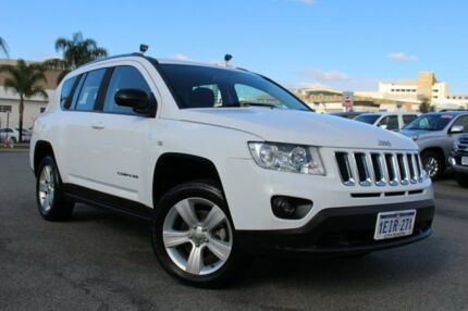 2013 Jeep Compass MK MY13 Sport White 5 Speed Manual Wagon