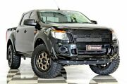 2014 Ford Ranger PX XL 2.2 HI-Rider (4x2) Black 6 Speed Automatic Crew Cab Pickup Burleigh Heads Gold Coast South Preview