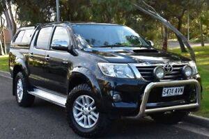 2013 Toyota Hilux KUN26R MY14 SR5 Double Cab Black 5 Speed Automatic Utility St Marys Mitcham Area Preview