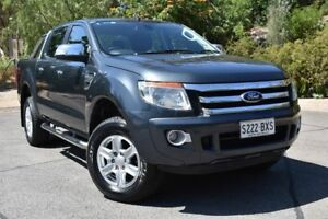 2014 Ford Ranger PX XLT Double Cab Grey 6 Speed Sports Automatic Utility St Marys Mitcham Area Preview