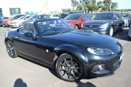 2014 Mazda MX-5 NC30F2 MY13 Roadster Coupe Black 6 Speed Manual Convertible