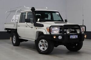 2013 Toyota Landcruiser VDJ79R MY12 Update GXL (4x4) White 5 Speed Manual Dual Cab Chassis Bentley Canning Area Preview