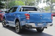 2017 Mitsubishi Triton MQ MY18 Exceed Double Cab Blue 5 Speed Sports Automatic Utility Broadmeadow Newcastle Area Preview