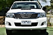 2014 Toyota Hilux KUN16R MY14 SR 4x2 White 5 Speed Manual Cab Chassis Berwick Casey Area Preview