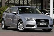 2014 Audi A3 8V Attraction Sportback S tronic Silver 7 Speed Sports Automatic Dual Clutch Hatchback Christies Beach Morphett Vale Area Preview