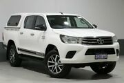 2016 Toyota Hilux GUN126R SR (4x4) White 6 Speed Automatic Dual Cab Utility Bentley Canning Area Preview