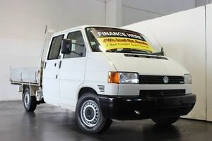 2003 Volkswagen Transporter T4 TDI White 5 Speed Manual Dual Cab Chassis Underwood Logan Area Preview