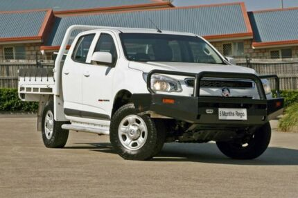 2016 Holden Colorado RG MY16 LS Crew Cab White 6 Speed Sports Automatic Cab Chassis Hillcrest Logan Area Preview