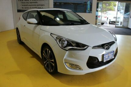 2016 Hyundai Veloster FS5 Series II Coupe D-CT White 6 Speed Sports Automatic Dual Clutch Hatchback
