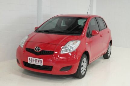 2011 Toyota Yaris NCP130R YR Super Red 5 Speed Manual Hatchback Toowoomba Toowoomba City Preview