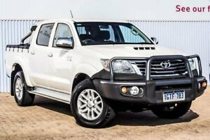 2014 Toyota Hilux KUN26R MY14 SR5 Double Cab White 5 Speed Manual Utility