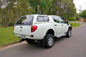 2006 Mitsubishi Triton ML MY07 GLX Double Cab White 5 Speed Manual Utility Underdale West Torrens Area Preview