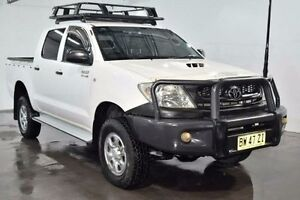2010 Toyota Hilux KUN26R SR White Manual Utility Lansvale Liverpool Area Preview
