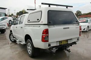 2013 Toyota Hilux KUN26R MY12 Workmate (4x4) White 4 Speed Automatic Dual Cab Pick-up Old Guildford Fairfield Area Preview