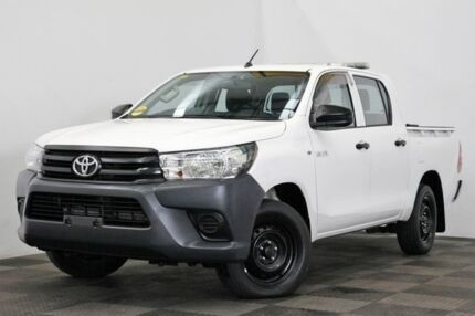 2016 Toyota Hilux TGN121R Workmate Double Cab 4x2 White 6 Speed Sports Automatic Utility Seven Hills Blacktown Area Preview