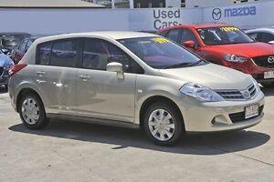2010 Nissan Tiida C11 S3 ST Beige 4 Speed Automatic Hatchback Mount Gravatt Brisbane South East Preview