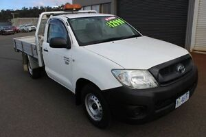 2009 Toyota Hilux TGN16R MY09 Workmate White 5 Speed Manual Cab Chassis Burnie Burnie Area Preview