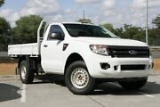 2013 Ford Ranger PX XL White 6 Speed Sports Automatic Cab Chassis Springwood Logan Area Preview