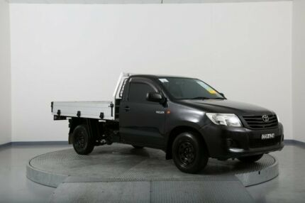 2011 Toyota Hilux TGN16R MY12 Workmate Black 5 Speed Manual Cab Chassis