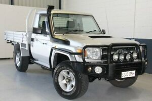 2009 Toyota Landcruiser VDJ79R MY10 GXL Silver 5 Speed Manual Cab Chassis Blair Athol Port Adelaide Area Preview