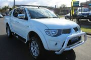 2013 Mitsubishi Triton MN MY14 GLX-R Double Cab White 5 Speed Manual Utility West Footscray Maribyrnong Area Preview
