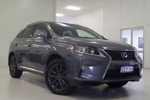 2012 Lexus RX450H GYL15R MY12 F Sport Grey 6 Speed Constant Variable Wagon Hybrid Myaree Melville Area Preview