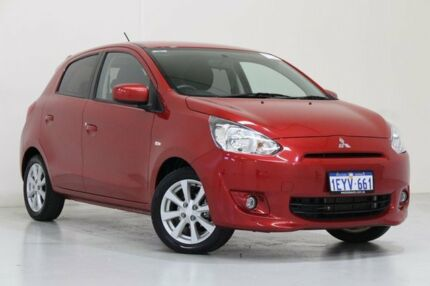 2016 Mitsubishi Mirage LA MY15 LS Red Continuous Variable Hatchback