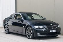 2008 BMW 323I E92 MY08 Steptronic Black 6 Speed Sports Automatic Coupe Ringwood East Maroondah Area Preview