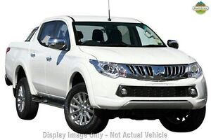 2015 Mitsubishi Triton MQ MY16 GLS Double Cab White Solid 5 Speed Sports Automatic Utility Knoxfield Knox Area Preview