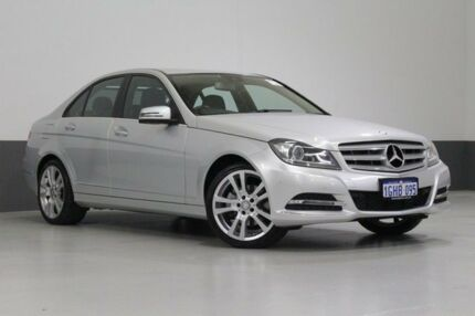 2013 Mercedes-Benz C250 W204 MY12 Elegance BE Silver 7 Speed Automatic G-Tronic Sedan Bentley Canning Area Preview