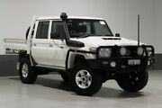 2018 Toyota Landcruiser VDJ79R MY18 GXL (4x4) White 5 Speed Manual Double Cab Chassis Bentley Canning Area Preview