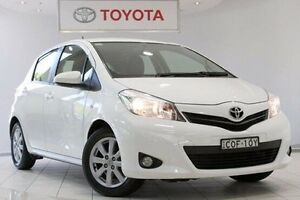 2013 Toyota Yaris NCP131R YRX Glacier White 4 Speed Automatic Hatchback Waterloo Inner Sydney Preview