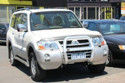2003 Mitsubishi Pajero NP Exceed White 5 Speed Sports Automatic Wagon Heatherton Kingston Area Preview