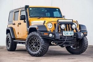 2014 Jeep Wrangler JK MY2014 Rubicon X Unlimited Gold 5 Speed Automatic Hardtop Myaree Melville Area Preview