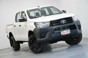 2018 Toyota Hilux GUN135R Workmate Double Cab 4x2 Hi-Rider White 6 Speed Sports Automatic Utility Indooroopilly Brisbane South West Preview