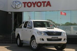2014 Toyota Hilux KUN26R MY12 SR5 (4x4) Glacier White 5 Speed Manual Dual Cab Pick-up Old Guildford Fairfield Area Preview