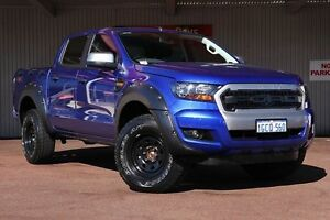 2015 Ford Ranger PX MkII XLS Double Cab Blue 6 Speed Manual Utility Northbridge Perth City Area Preview