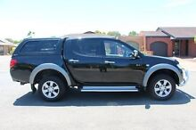 2008 Mitsubishi Triton ML MY09 GLX-R Double Cab Black 4 Speed Automatic Utility Nailsworth Prospect Area Preview