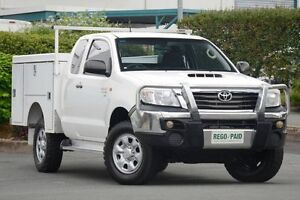 2012 Toyota Hilux KUN26R MY12 SR Xtra Cab White 5 Speed Manual Cab Chassis Acacia Ridge Brisbane South West Preview