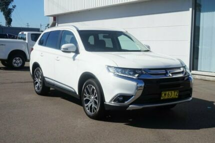 2017 Mitsubishi Outlander ZK MY18 LS AWD White 6 Speed Constant Variable Wagon Cardiff Lake Macquarie Area Preview