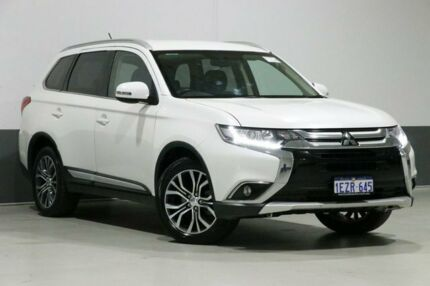 2016 Mitsubishi Outlander ZK MY16 LS (4x4) White Continuous Variable Wagon Bentley Canning Area Preview