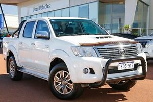 2014 Toyota Hilux KUN26R MY14 Black Double Cab Limited Edition White 5 Speed Manual Utility Wangara Wanneroo Area Preview