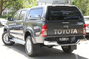 2012 Toyota Hilux KUN26R MY12 SR5 (4x4) Grey 4 Speed Automatic Dual Cab Pick-up Petersham Marrickville Area Preview