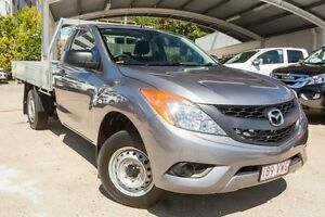 2015 Mazda BT-50 UP0YD1 XT 4x2 Silver 6 Speed Manual Cab Chassis Mount Gravatt Brisbane South East Preview